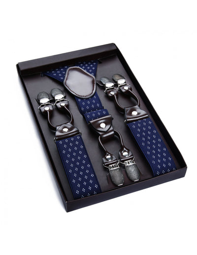 Blue & White Dots Only Suspender