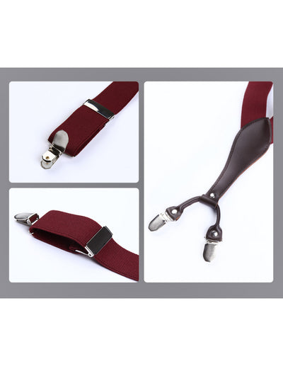Red Men's Only Suspender