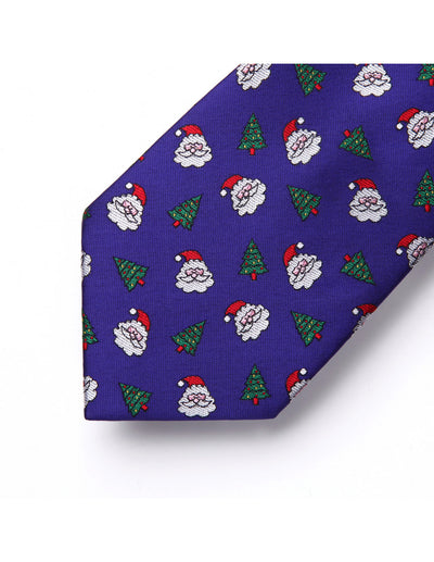 Christmas Purple Floral Silk Tie Set