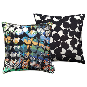 Floral Dots (black) - Cushion Cover