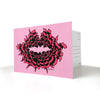 Art Postcards - Air-Kiss (pink/black) - shop.reettahiltunen.com