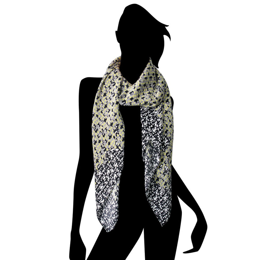 Champions (yellow/black) - Silk Scarf - shop.reettahiltunen.com