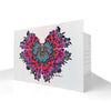 Art Postcards - Butterfly Kiss (purple) - shop.reettahiltunen.com