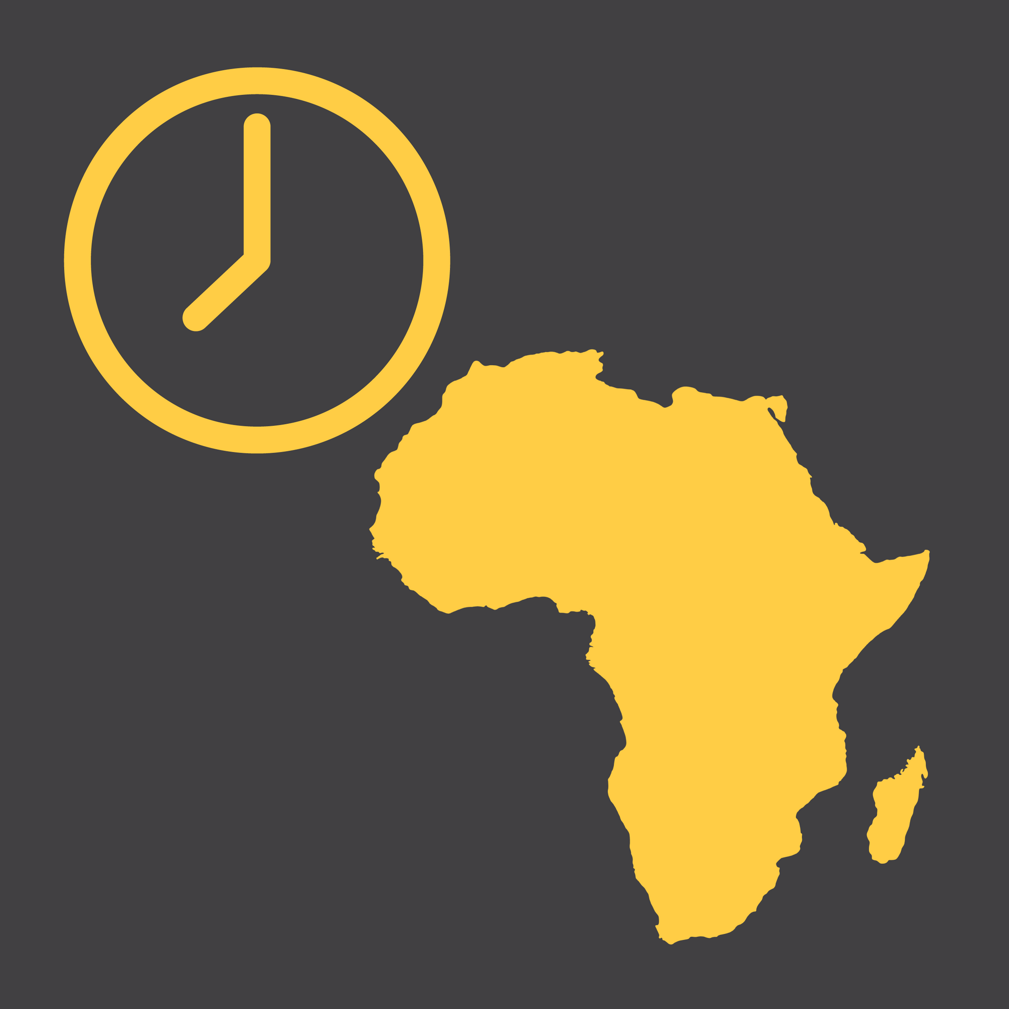Africa Modern Wall Clocks - City Map Wall Clocks - Point Two Design
