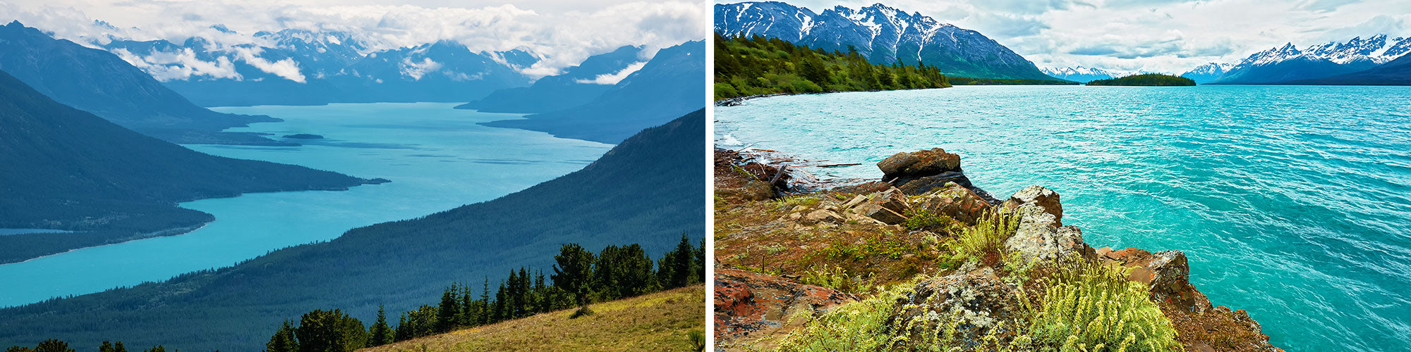 Fine Art Photography Prints of Chilko Lake - Satellite Images of Earth - Point Two Design