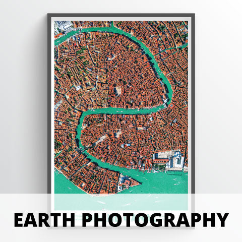 Earth from Space Photography Map Prints