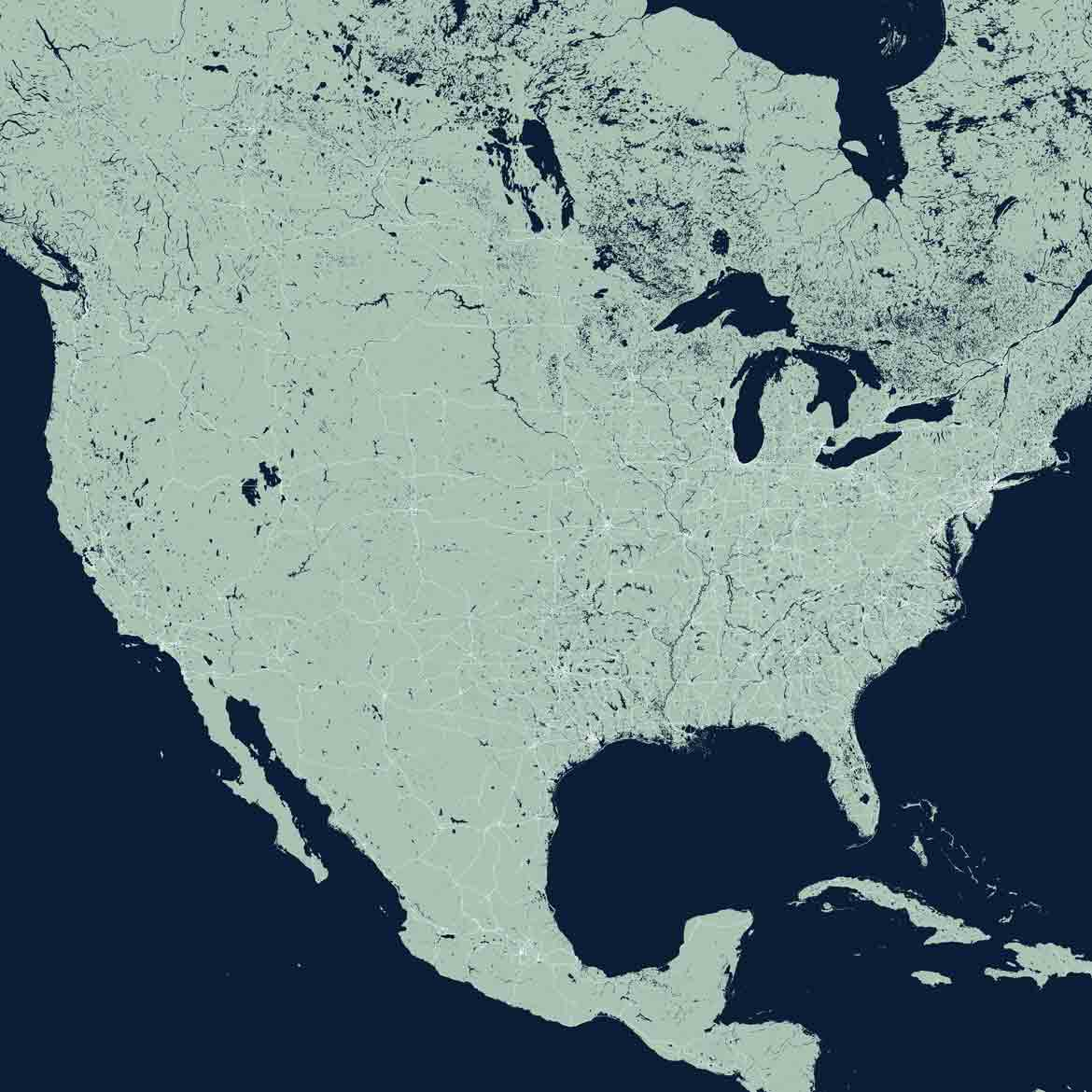 United States Map Print Products