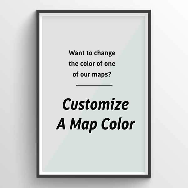 Custom Color City Map Art Print - Point Two Design