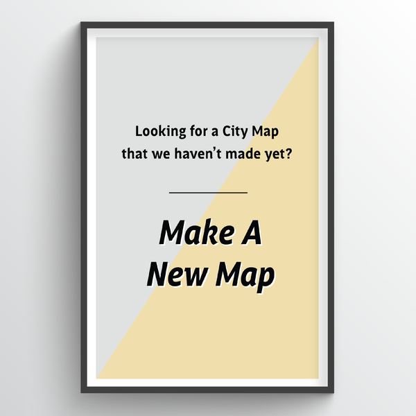 Custom Map City Map Art Print - Point Two Design