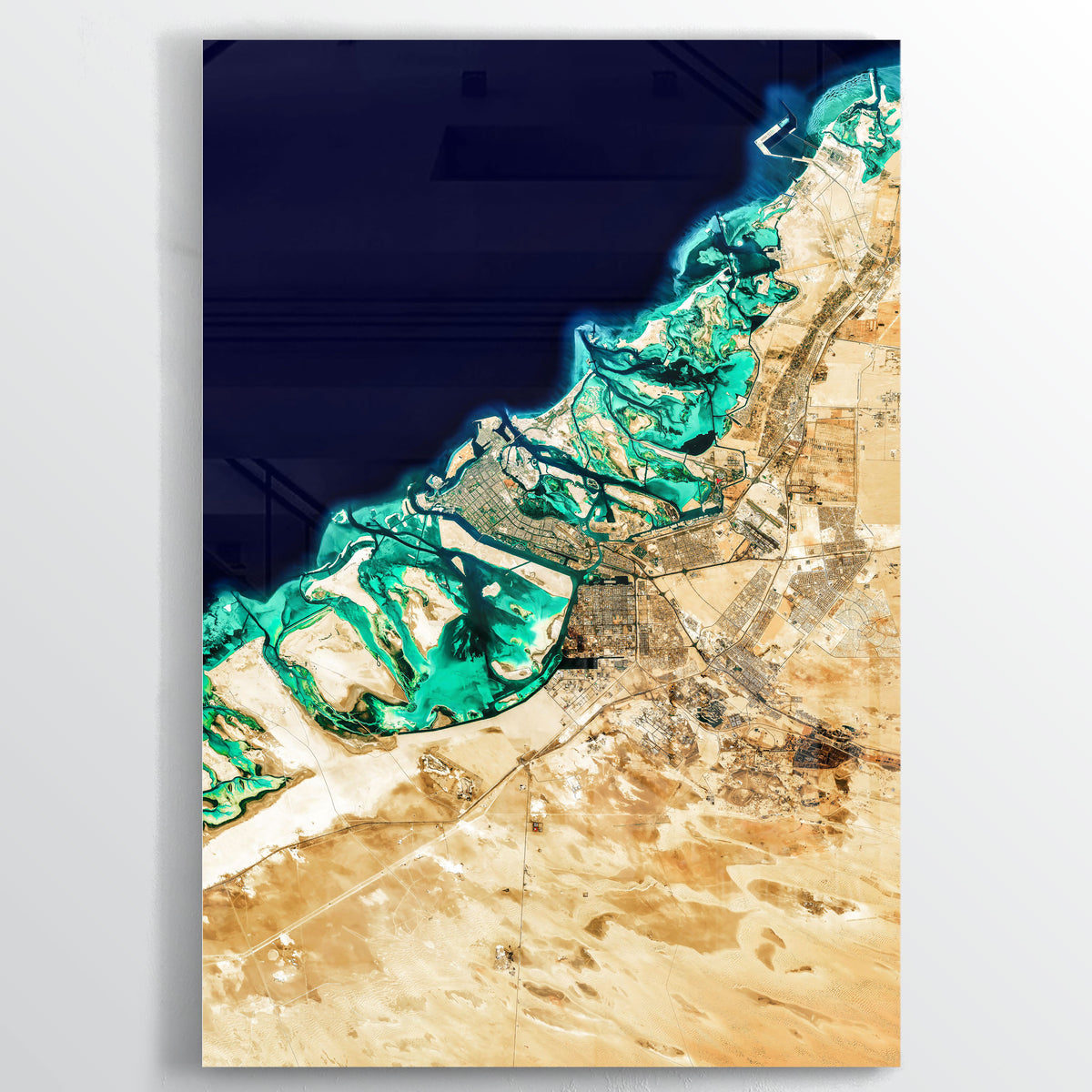 Abu Dhabi Earth Photography - Floating Acrylic Art - Point Two Design