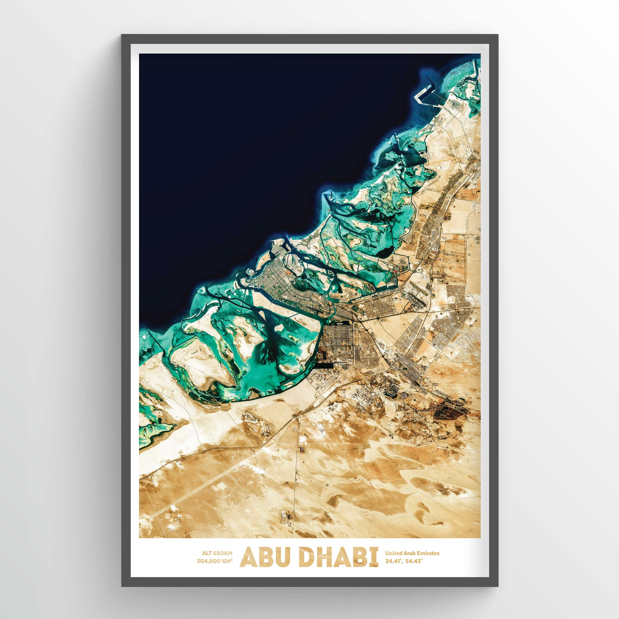 Abu Dhabi Earth Photography - Art Print - Point Two Design