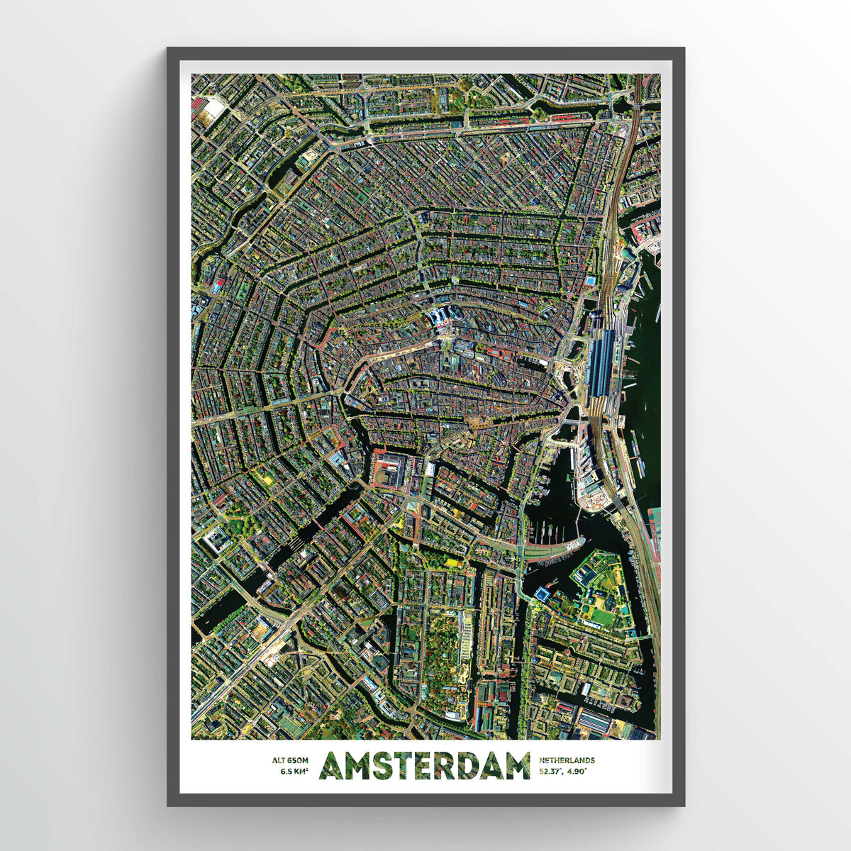 Amsterdam Earth Photography - Art Print - Point Two Design