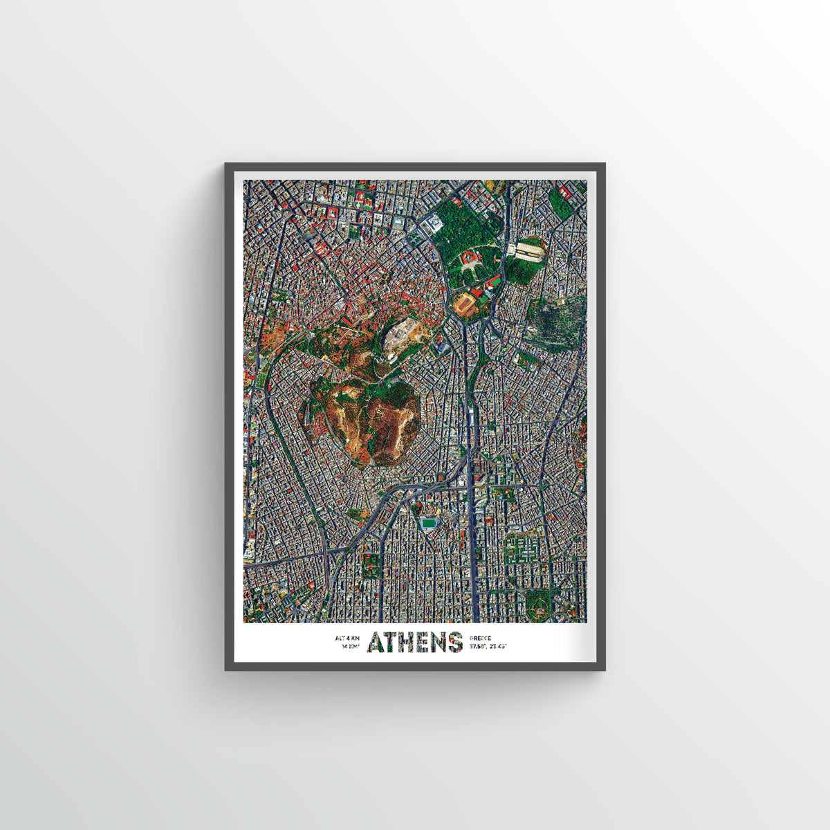 Athens Earth Photography - Art Print - Point Two Design
