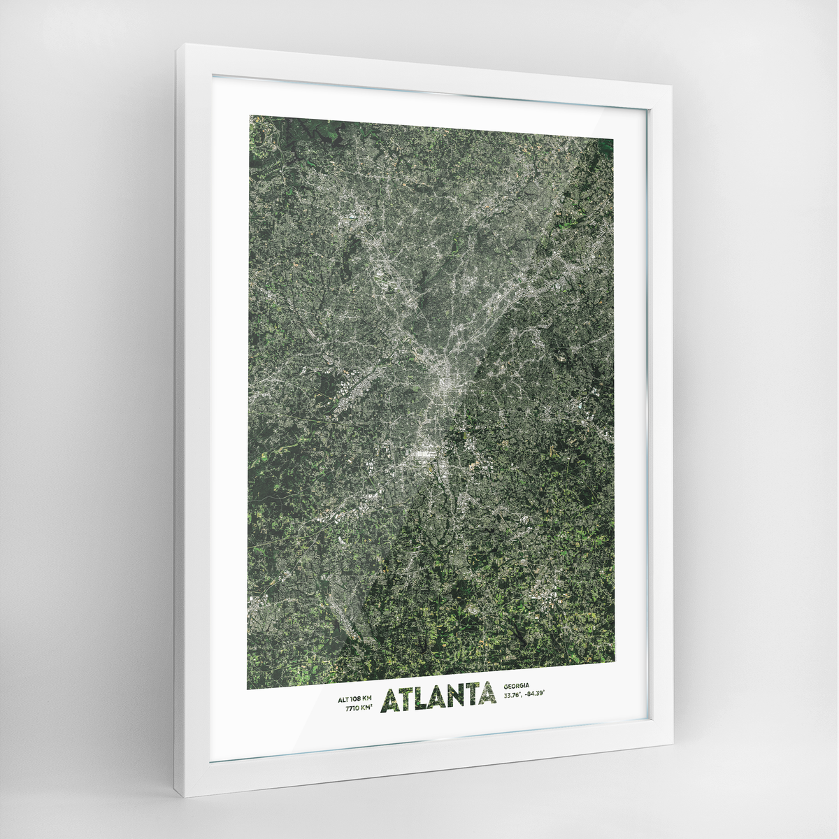 Atlanta Earth Photography Art Print - Framed
