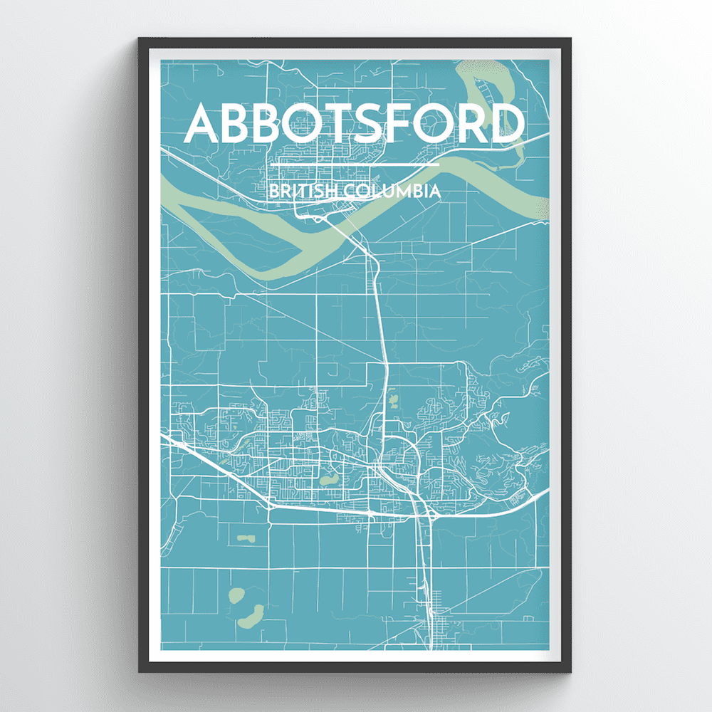 Abbotsford Map Art Print - Point Two Design