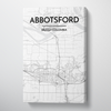 Abbotsford Map Canvas Wrap - Point Two Design