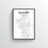 Calgary City Map Art Print - Point Two Design