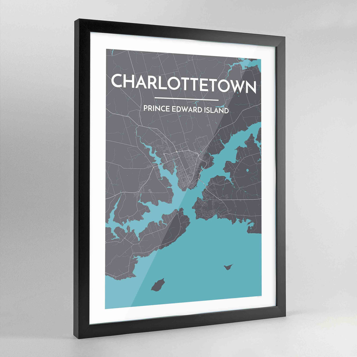Framed Charlottetown City Map - Point Two Design