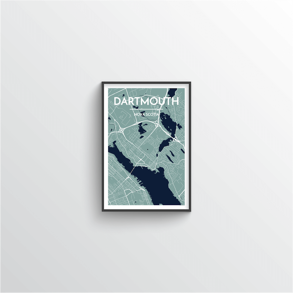 Dartmouth Map Art Print - Point Two Design