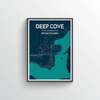 Deep Cove Map Art Print - Point Two Design