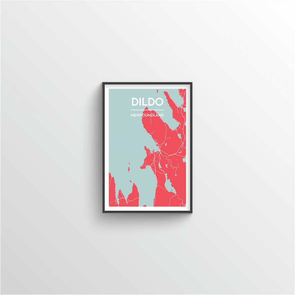 Dildo Cove Map Art Print - Point Two Design