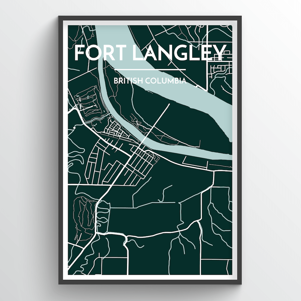 Fort Langley City Map - Point Two Design