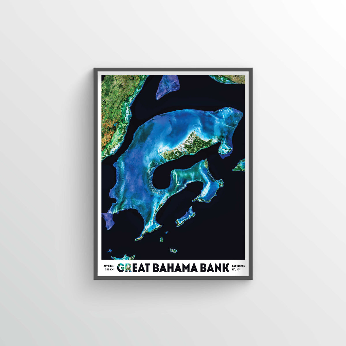 Bahama Banks Earth Photography - Art Print - Point Two Design
