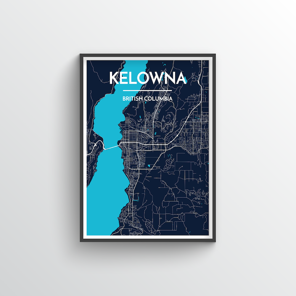 Kelowna City Map - Point Two Design