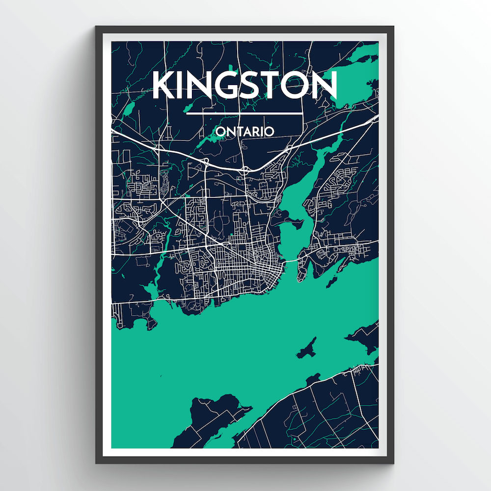 Kingston City Map Art Print - Point Two Design