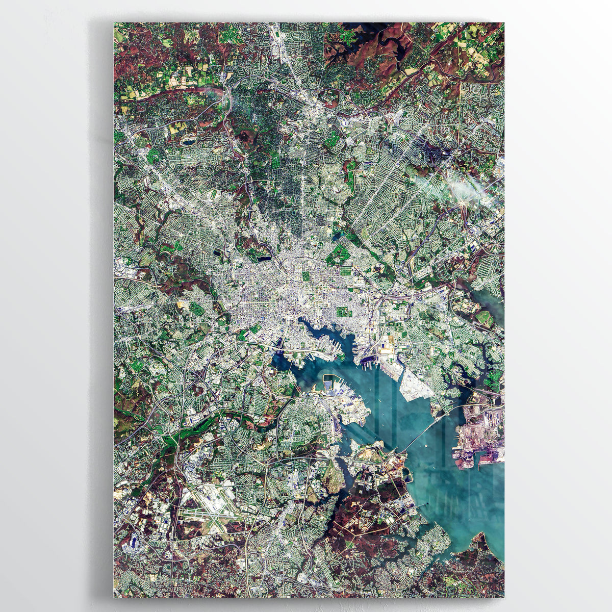DC/Baltimore Earth Photography - Floating Acrylic Art - Point Two Design