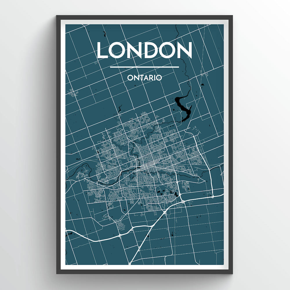 London Ontario City Map - Point Two Design