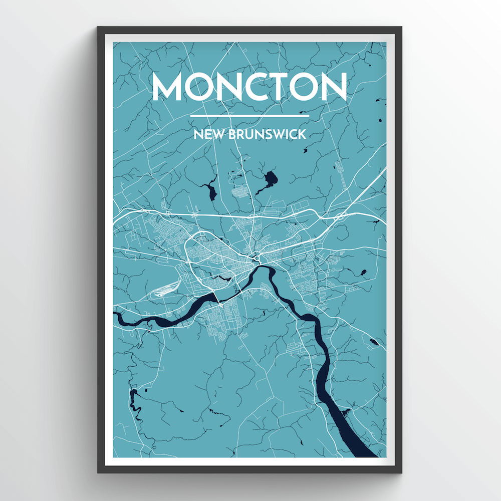 Moncton City Map Art Print - Point Two Design