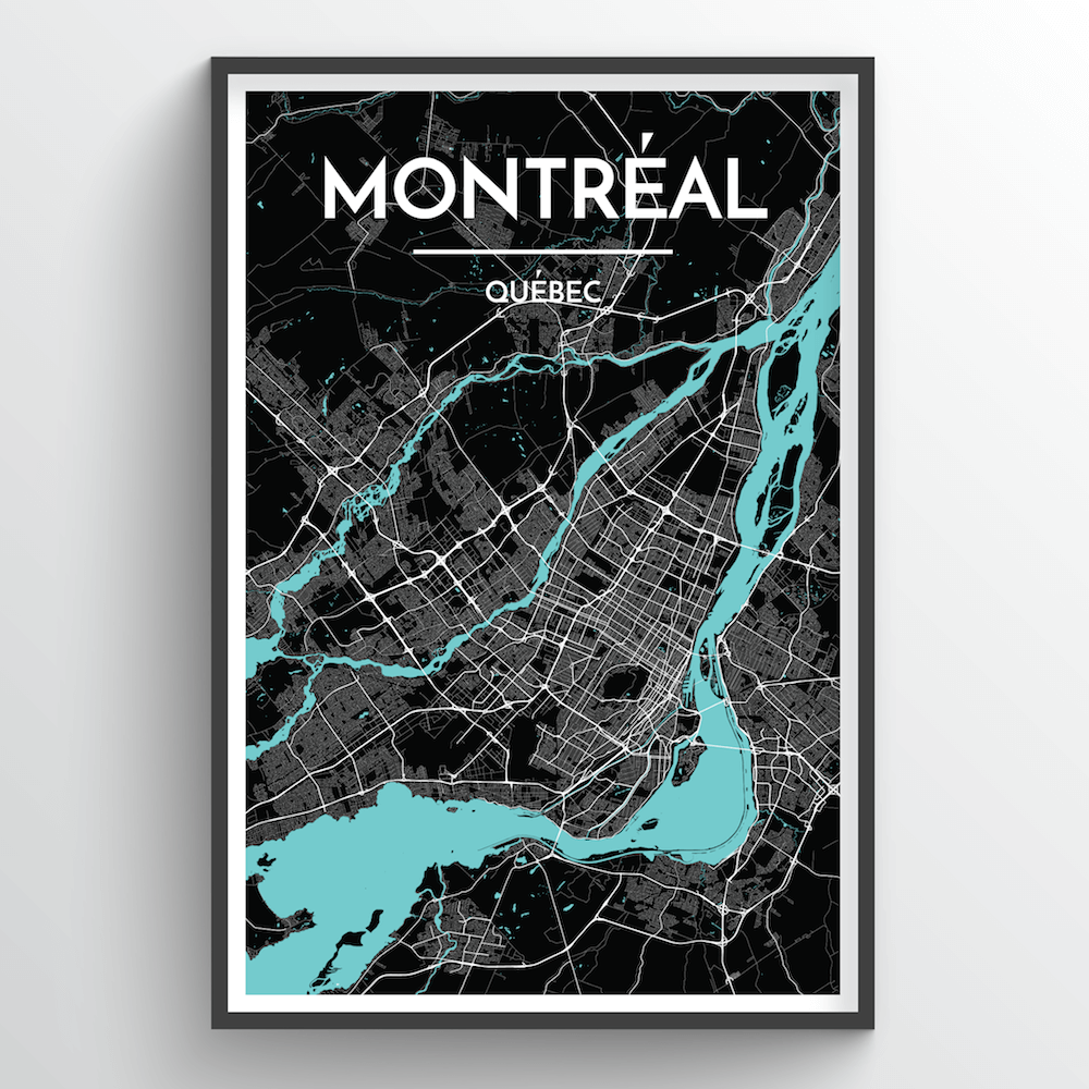 Montreal City Map Art Print - Point Two Design
