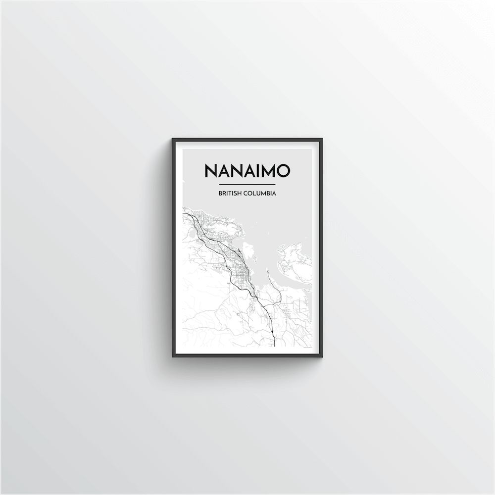 Nanaimo City Map Art Print - Point Two Design