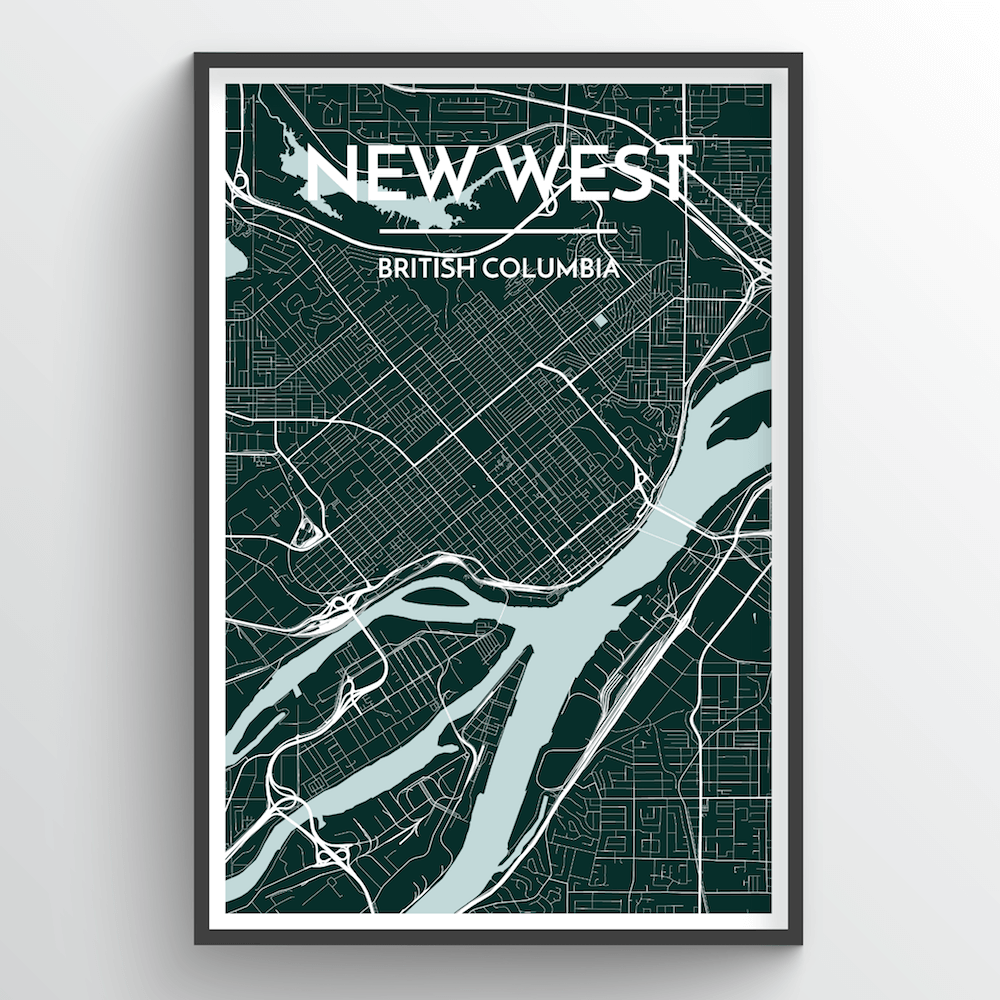 New Westminster City Map Art Print - Point Two Design