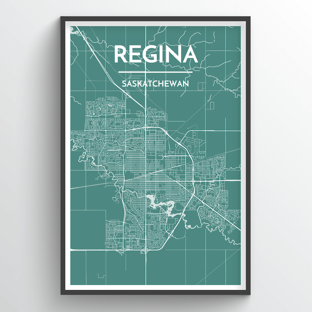 Regina City Map Art Print - Point Two Design