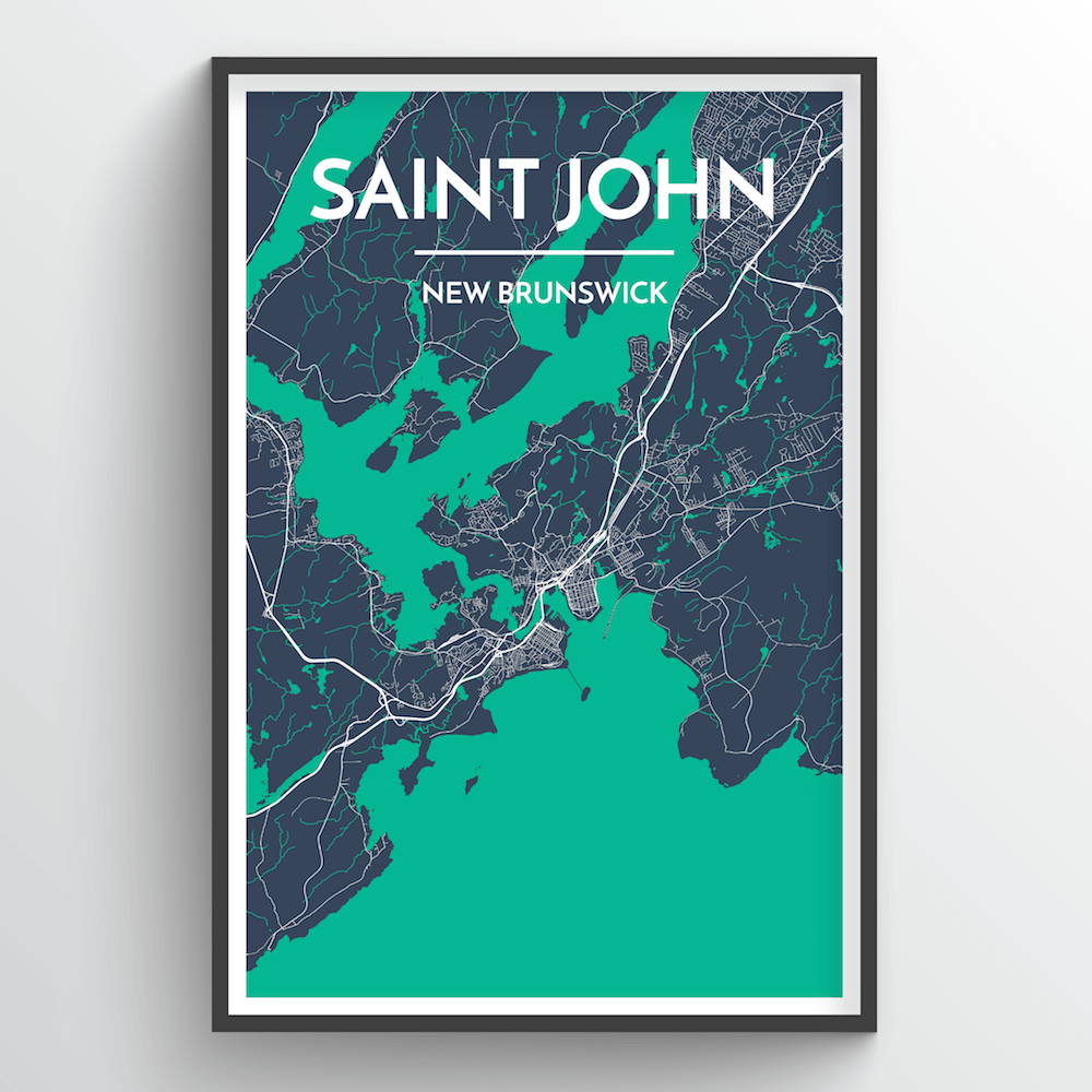 Saint John City Map Art Print - Point Two Design