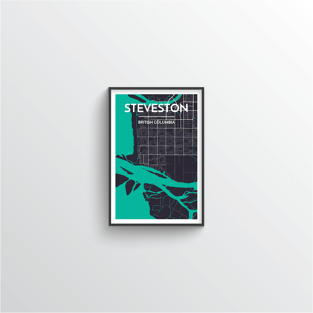 Steveston Map Art Print - Point Two Design