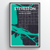 Steveston City Map Art Print - Point Two Design