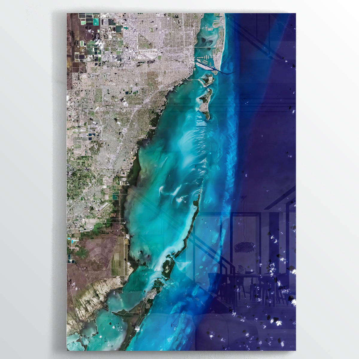 Biscayne Bay Earth Photography - Floating Acrylic Art - Point Two Design