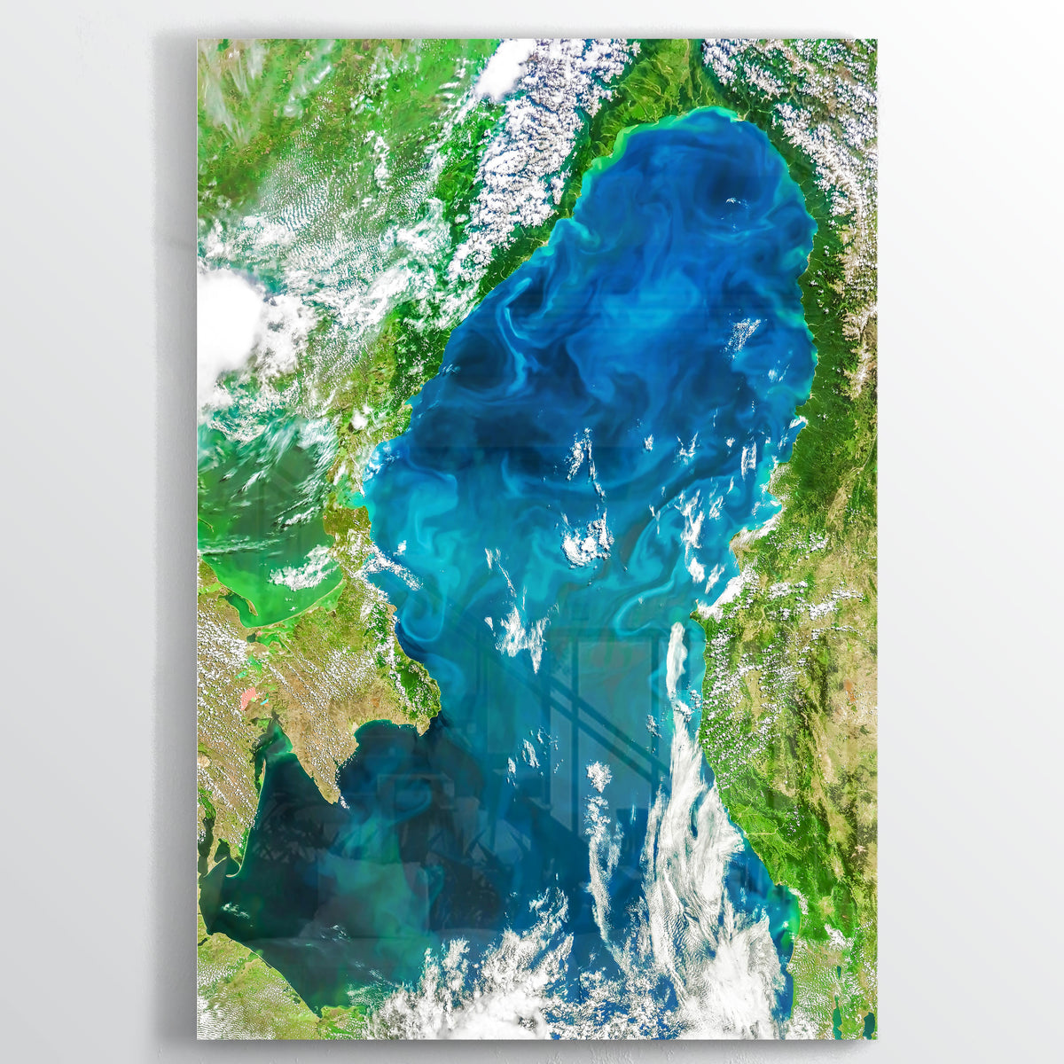Black Sea Earth Photography - Floating Acrylic Art - Point Two Design