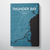 Thunder Bay City Map Canvas Wrap - Point Two Design