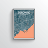 Toronto City Map Art Print - Point Two Design