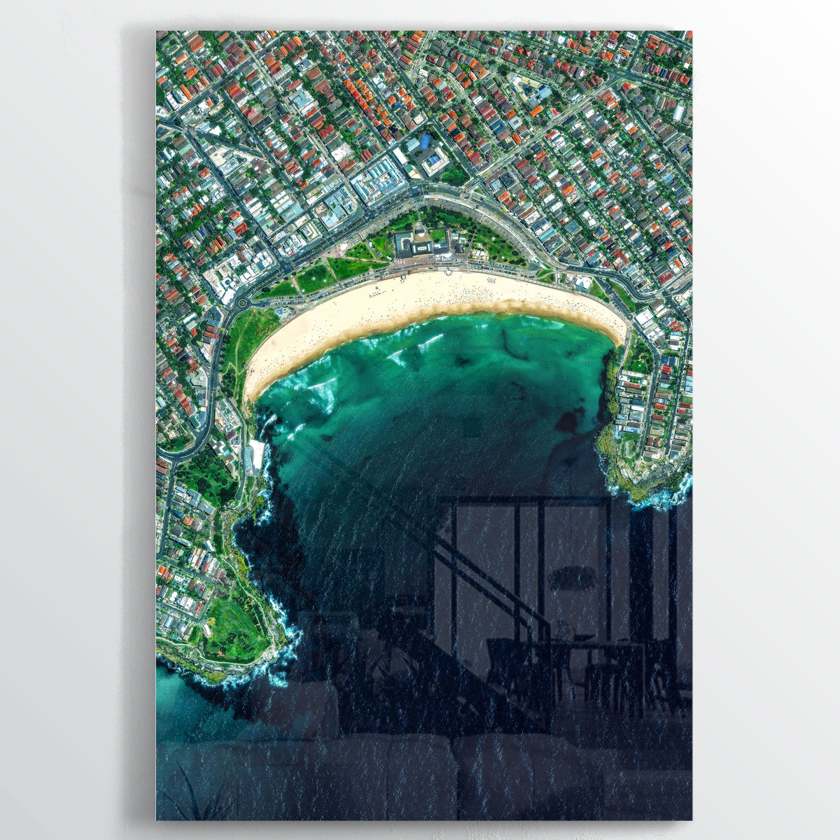 Bondi Beach Earth Photography - Floating Acrylic Art - Point Two Design