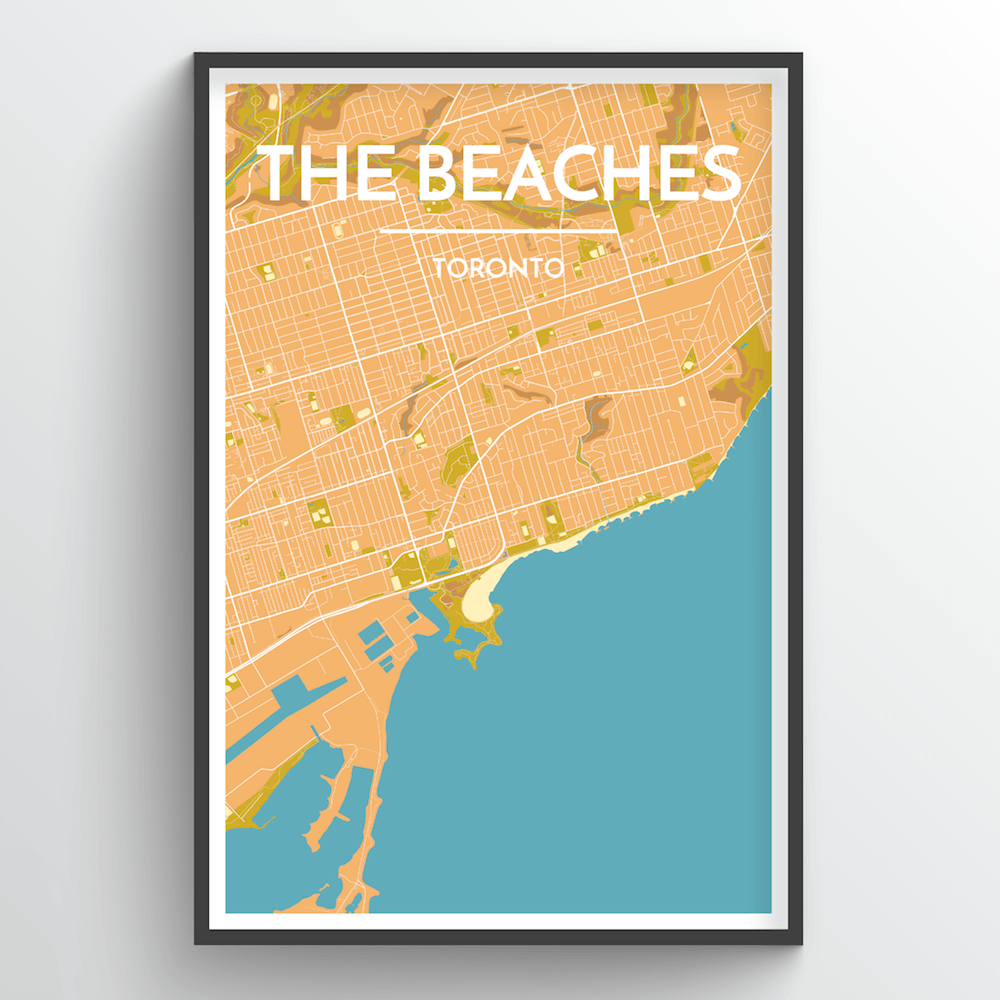 Toronto Beaches City Map