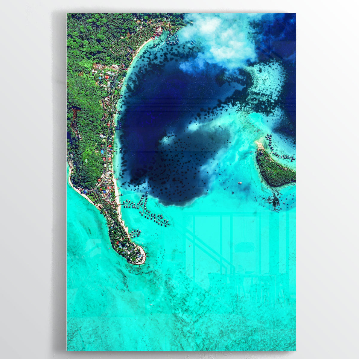 Bora Bora Earth Photography - Floating Acrylic Art - Point Two Design