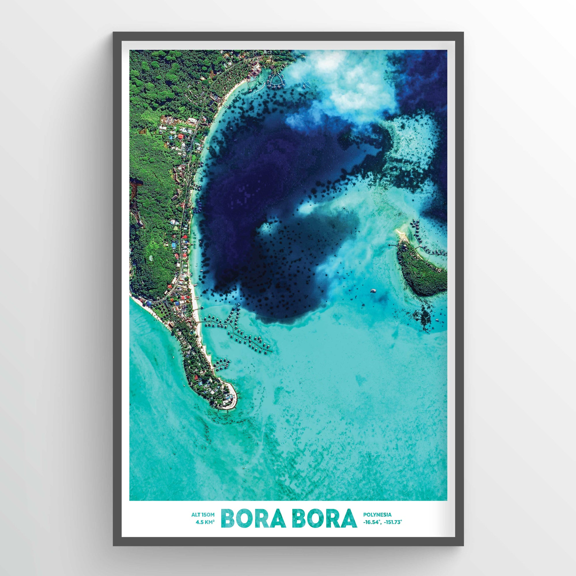 Bora Bora Earth Photography - Art Print - Point Two Design