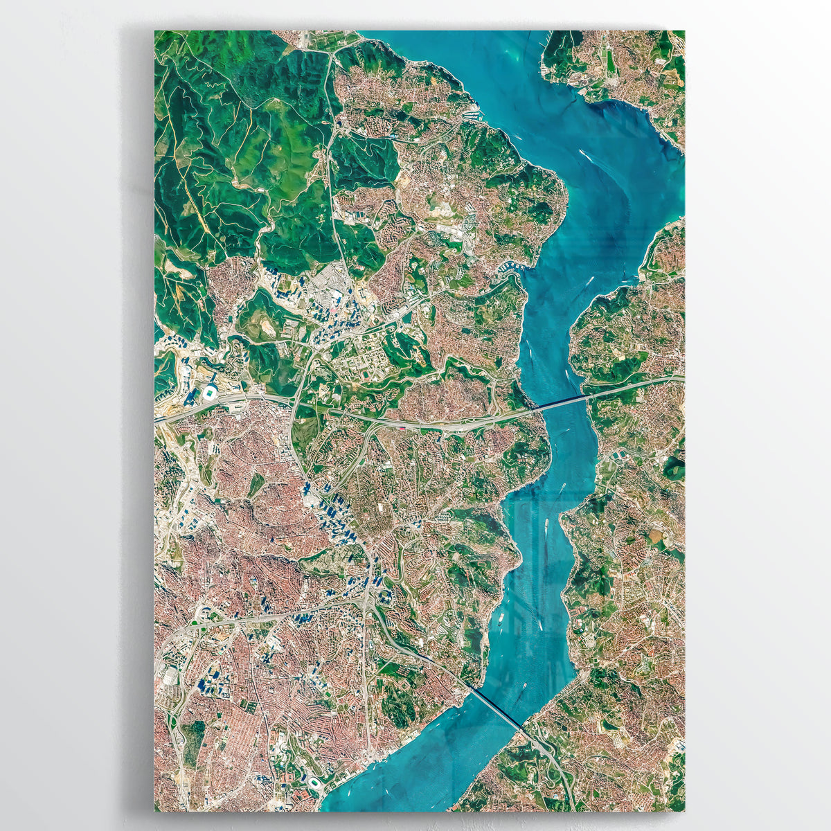 Bosphorus Earth Photography - Floating Acrylic Art - Point Two Design