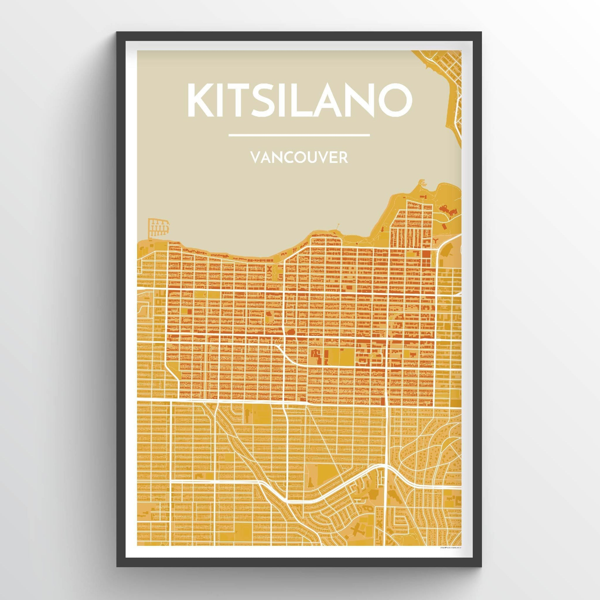 Kitsilano Vancouver City Map Art Print - Point Two Design