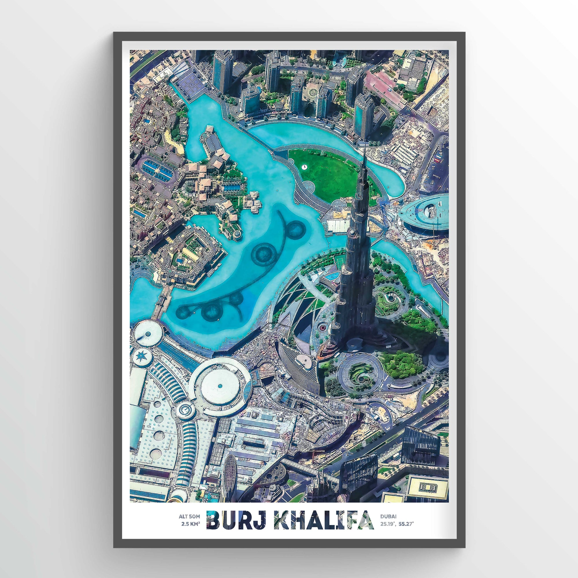 Burj Khalifa Earth Photography - Art Print - Point Two Design